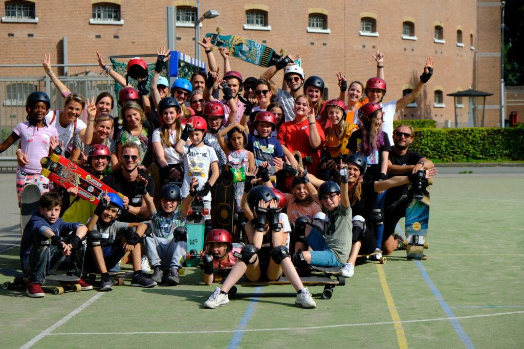 Good Days impact day Dr. de Visserschool en Rietvink Ride Along skate clinic (12)